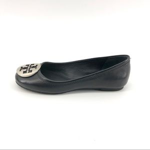 Tory Burch Ballet Flats 5 Black Leather Shoes